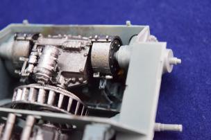 The steering mechanism in the transmission